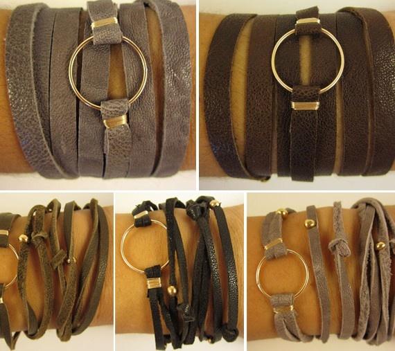 Leather wrap braceletsCrafty Stuff, Crafts Ideas, Leather Wrap Bracelets, Rustic Style, Leather Jewelry, Bracelets Jewelryinspir, Diy Bracelets, Leather Wraps Bracelets, Leather Bracelets
