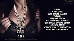 sola anuel remix letra - YouTube