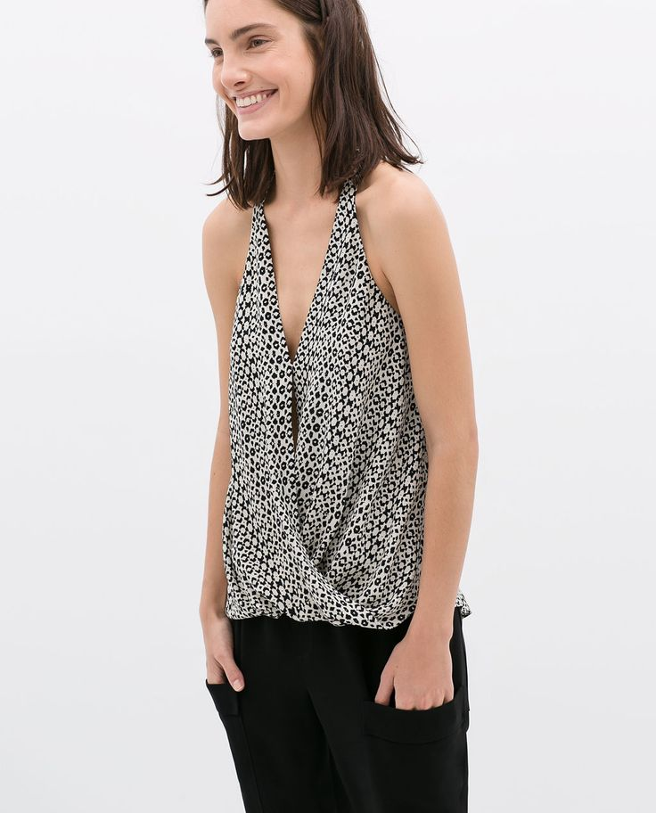 CROSS OVER STRAPPY TOP from Zara