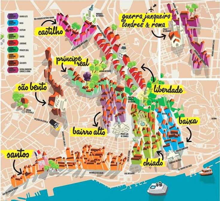 """Lisbon Shopping Destination"" Map"