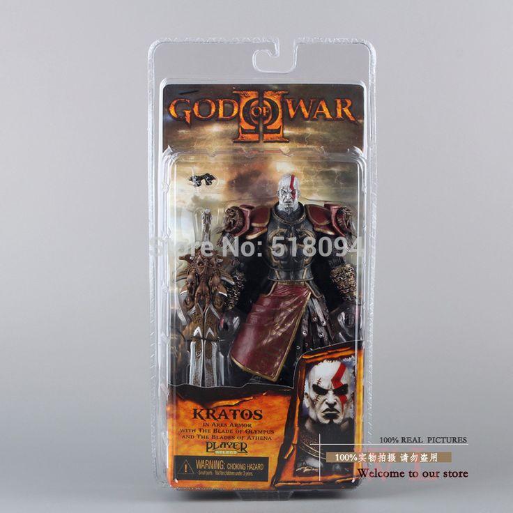 Высокое качество NECA бог войны 2 II кратос в арес броня W лезвия 7  PVC игрушки-фигурки куклы Chritmas MVFG147