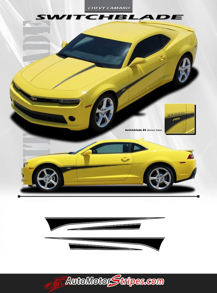 Chevy Camaro Switchblade Hood And Side Spear - Custom vinyl decals for car hoods