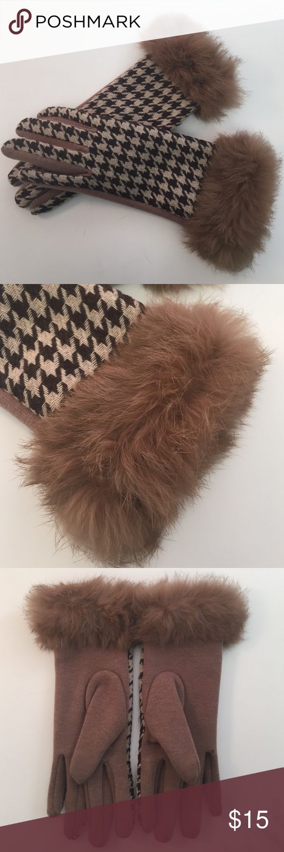 Driving texting gloves - Texting Gloves With Rabbit Fur