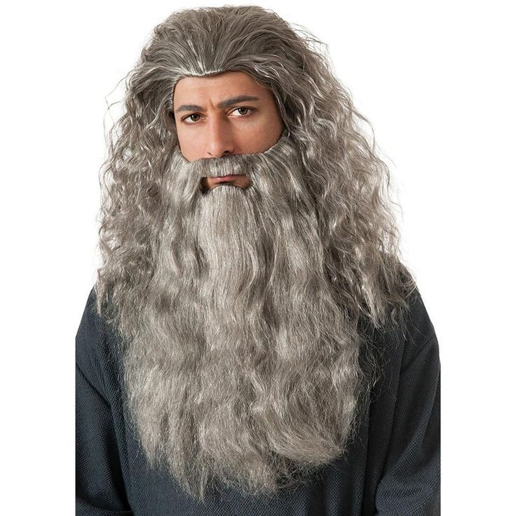 Complete your Gandalf costume with this wig and beard costume accessory perfect for Halloween or year round cosplay. Includes Wig…