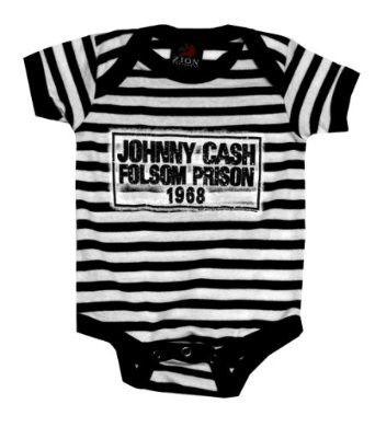 Johnny Cash Stripes Onesie