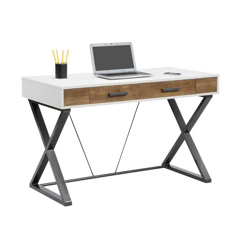 features samford collection x shaped metal legs provide support to this buy office computer desk