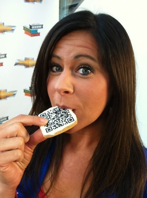 QR Code Cookie are so fun to eat!  Very cool and attractive way to use a Qr Code in advertising. Bake a batch of QR Code Cookie's and let your guests scan them to get a mobile suprise! People love to Eat, you can never go wrong with QR Code Cookies! - See more at: http://qrcodehome.net/funny-qr-code-advertising-qrcode-news.html#sthash.RTvK3lCl.dpuf