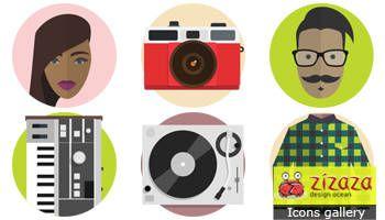 #Freebies #Icon set - Hipster - Zizaza item for