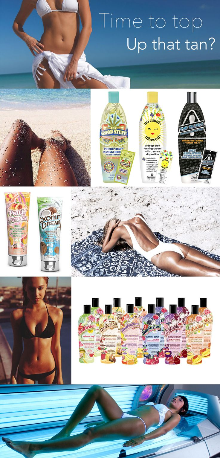 Need to top up your holiday tan? Fiesta, Tan Fusion, Pro Tan & Synergy Tan Sunlicious Collection - sunbed tanning accelerator lotions!