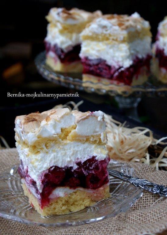 ciasto, maliny, ciasto z malinami