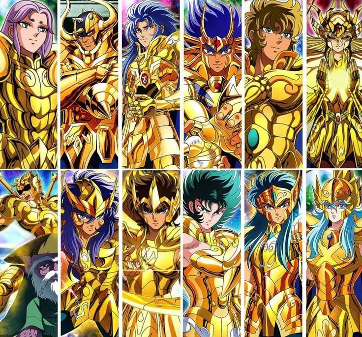 1st Gen. Gold Saints (Saint Seiya)