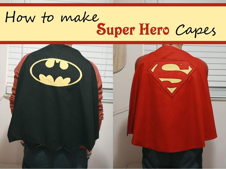 DIY Tutorial: DIY Superhero Costume / Tutorial Thursday: Super Hero Capes - Bead&Cord