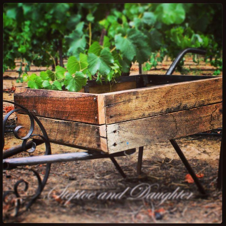 Handcrafted rustic wheelbarrow