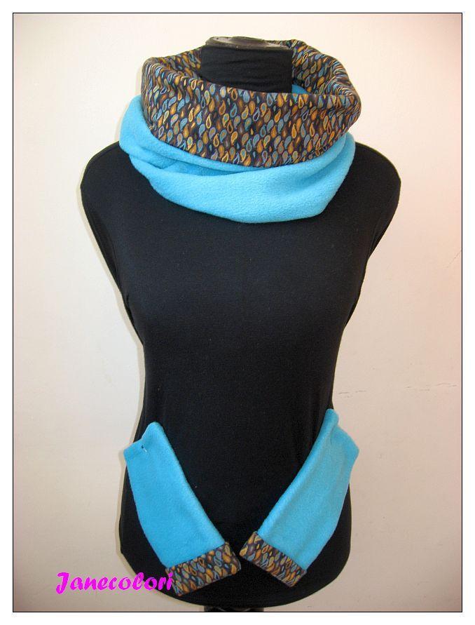 set sciarpa girocollo con scaldapolsi : Sciarpe, foulard, cravatte di janecolori