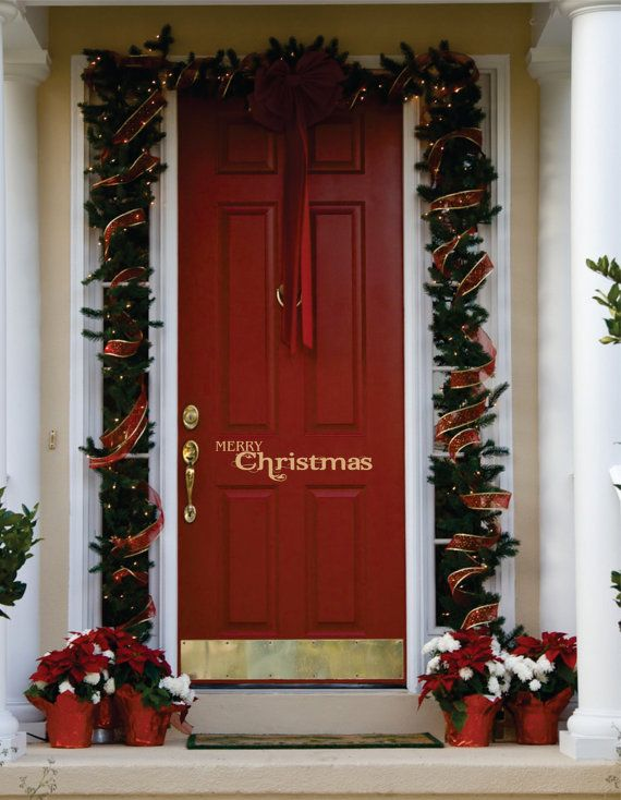 A fun way to greet guests for the holidays!  This Christmas door decal can be customised.