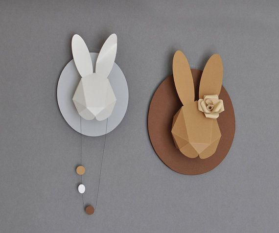 rabbit heads from paper by chloe fleury, san francisco