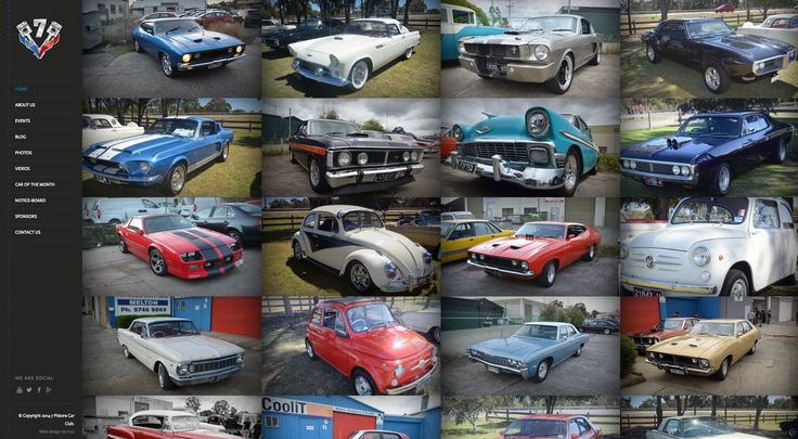 With full Social Media Integrations, including synchronised events calendar, 7 Pistons Car Club website showcases the vehicles and culture surrounding the 7 Pistons Car Club. If you love classic cars, be sure to have a look at this site.