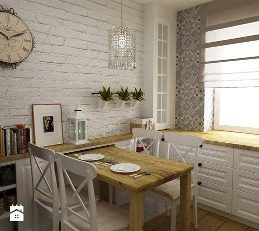 28 best images about Home  ściany  biała cegiełka on   -> Kuchnia Prowansalska Aranżacje