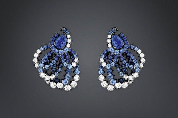 Orecchini con zaffiri Archi Dior