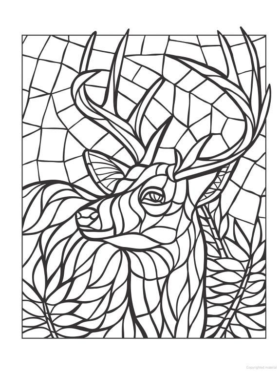 161 best images about Stained glass Deer, moose, buck, etc ...