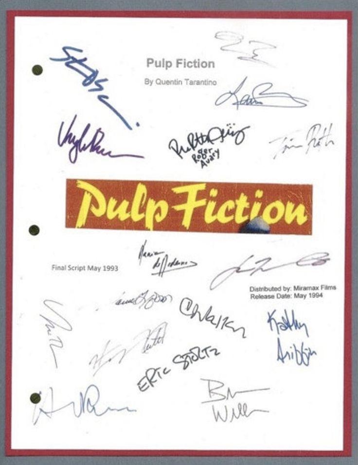 Pulp fiction movie script signed autographed quentin