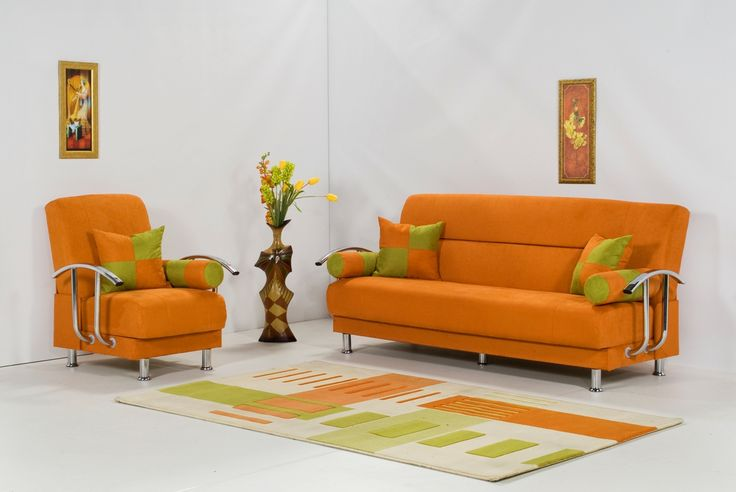 Portrayal of Energize Your Interior with Orange Accent Pillow