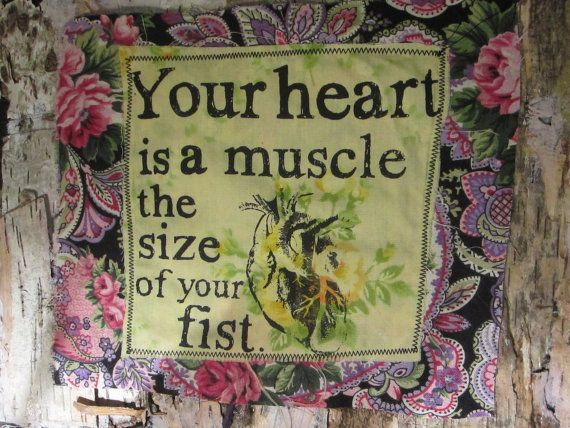"""Paisley """"Your Heart is a Muscle the Size of your Fist"""" Patch  I only have 2 at the moment!"""