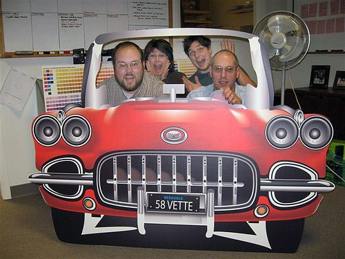 greased lightning car stage prop