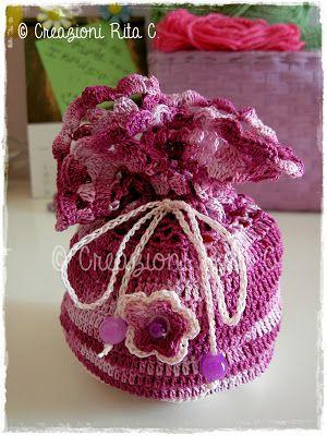 Creazioni Rita C. ... Only Handmade!: Nuove Confezioni per Bijoux e Portagioie all'Uncinetto