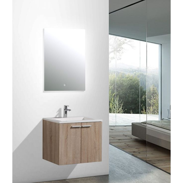 Ensemble salle de bain DO600 couleur chêne blanch…