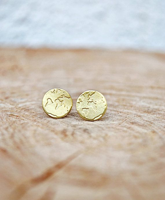 World Earrings / Travel Earrings / Wanderlust by Bubblebox on Etsy