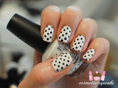 Adorable!Search, Nails Art, Nails Makeup, Black And White, White Polka, Dots Manicures, Polka Dots Nails, Black Nails, Image Search