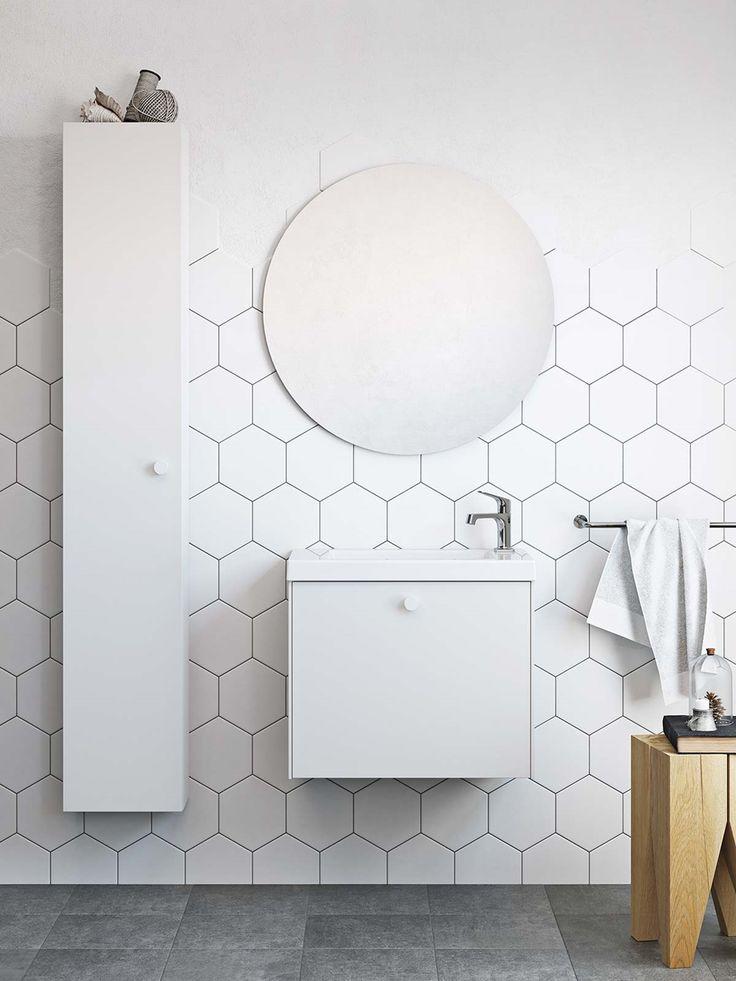 | Badrumsinspiration | Badrumsskåp i serien Compact i färgen vit. För dig med mindre badrum  | Ballingslöv.