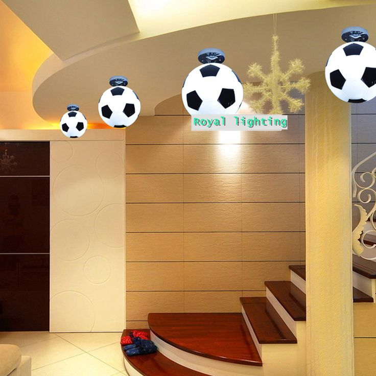 Bar ceiling lamp football Luz interior lighting ceiling lights football soccer ball lamp children room bedroom kids room Light