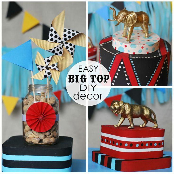 circus theme centerpieces | Easy {DIY} Circus Themed Centerpieces