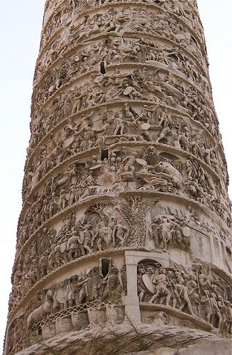 Trajan's Column illustrates this Roman emperor's famous battles.