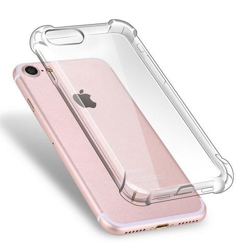 Anti Knock Air Cushion Clear Transparent Thick Soft TPU Case For iPhone 7 6s 6 8…