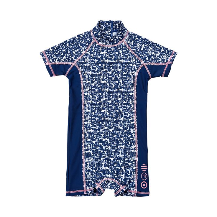 This zippered swim suit is perfect for little kids - easy on, easy off, and with built in UV protection.