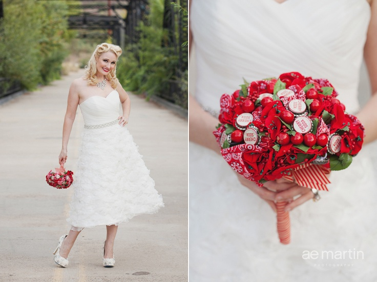 i am tempted to put dr. pepper bottle caps in my bouquet now