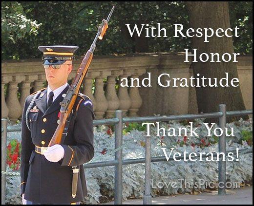 With Gratitude Happy Veterans Day