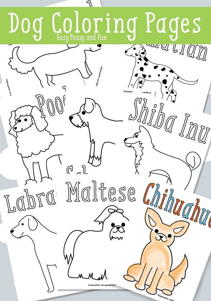 Dog Coloring Pages Free Printable Free Printables for
