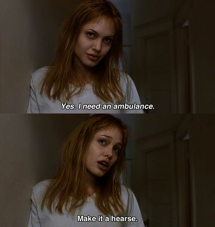 Lisa's Blase attitude after Daisy's suicide. Girl, Interrupted
