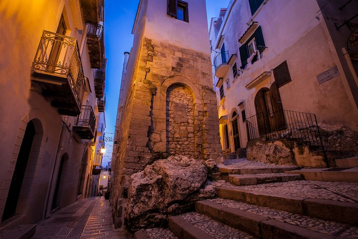 Vieste old town, Apulia region, Foggia province, Gargano, Open South Project