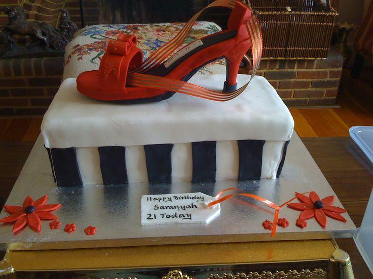 Saranyah's 21st Birthday Cake