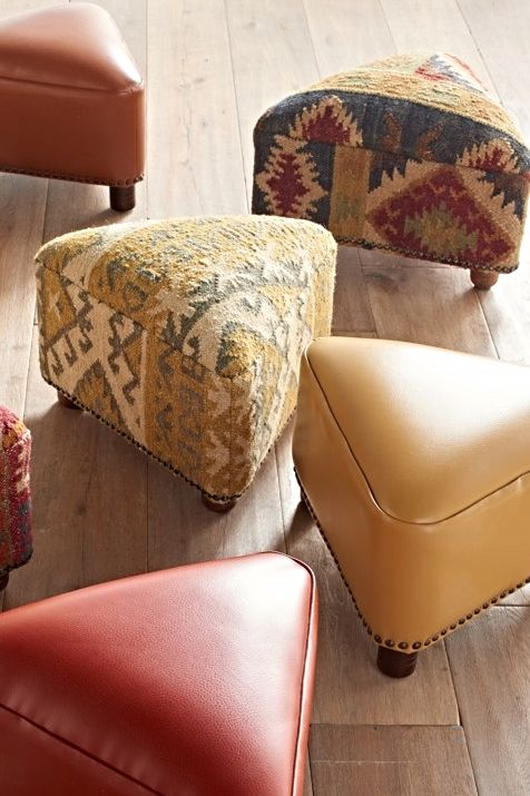 The Trista Footstool makes a handsome addition anyway you look at it. This ottoman is a beautiful way to punctuate a room.