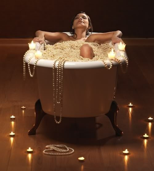 bathe in pearls!