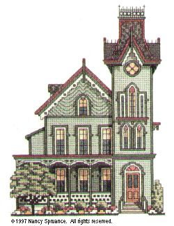victorian houses counted cross stitch - Pesquisa do Google