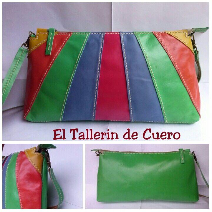 Bolso 100% de piel hecho a mano. Leatherbag handmade.  Facebook.com/ El Tallerin de Cuero - Artesania Paloma.