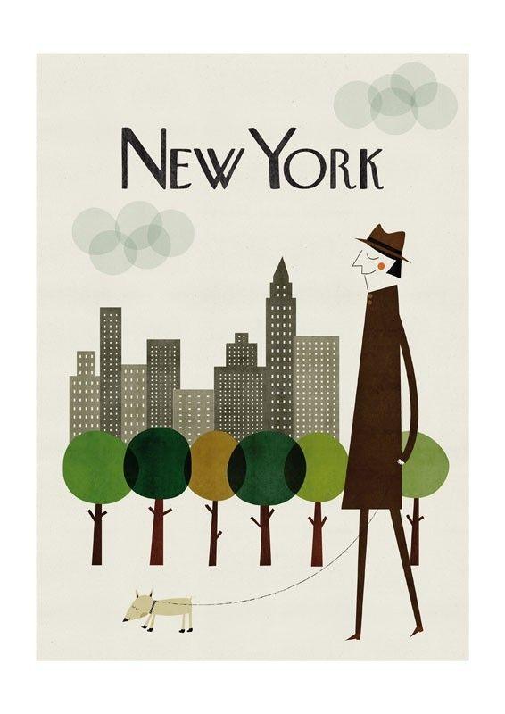 New York print par blancucha