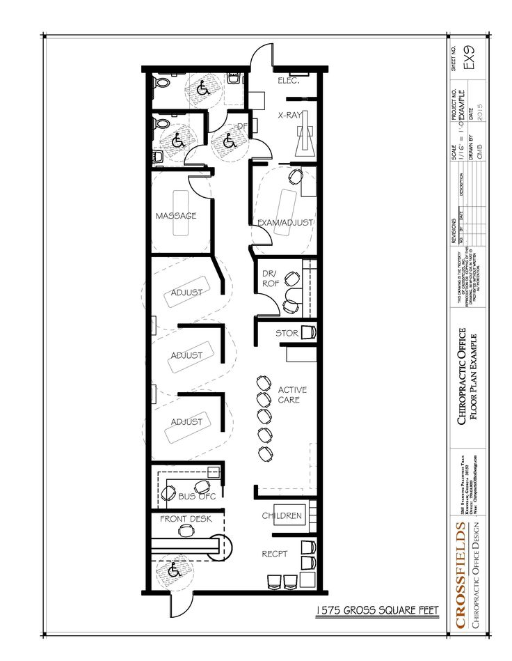 Wonderful Chiropractic Office #Design Floor Plan Semi Open #Adjusting 1575 Gross Sq.  Ft